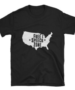 America Free Speech Zone Black T-Shirt