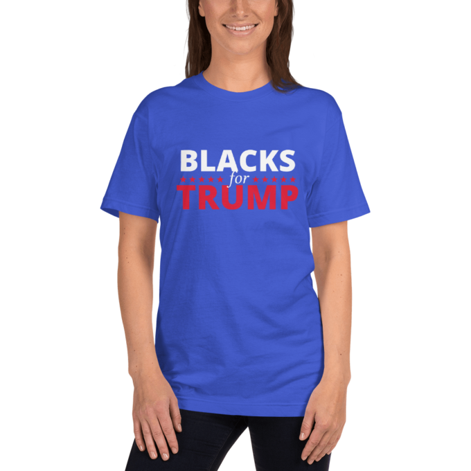 blacks for trump 2020 t-shirt