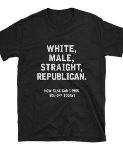 white male straight republican t-shirt