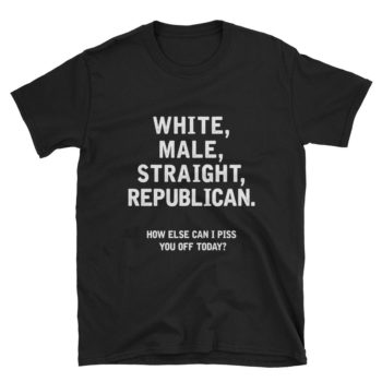 white male straight republican t-shirt
