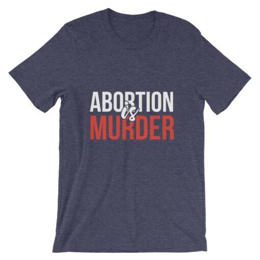 Abortion Is Murder Black T-Shirt