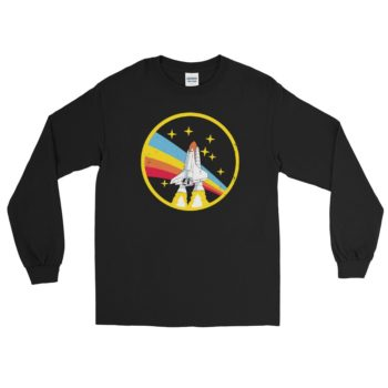 Alex Jones NASA Black Vintage Retro Long Sleeve T-Shirt