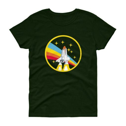 Alex Jones NASA Forest Green Vintage Retro Women's T-Shirt