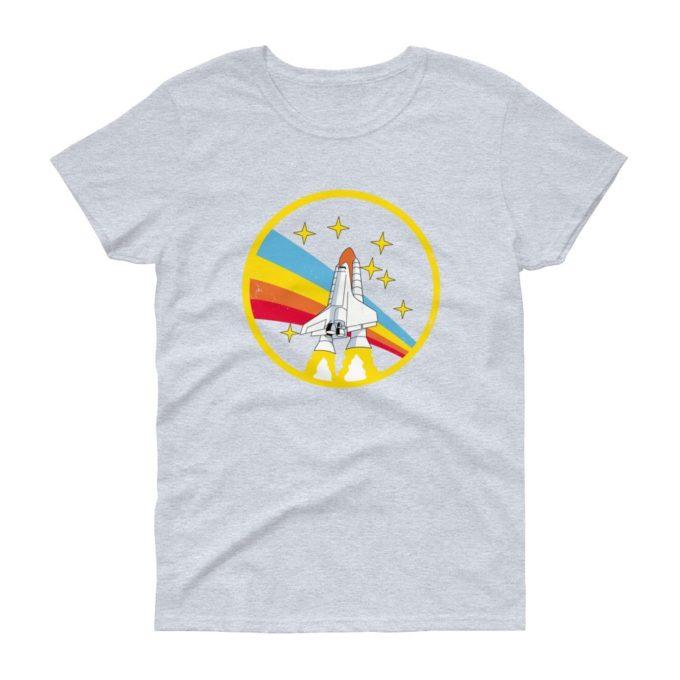 Alex Jones NASA Heather Grey Vintage Retro Women's T-Shirt