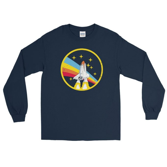Alex Jones NASA Navy Vintage Retro Long Sleeve T-Shirt