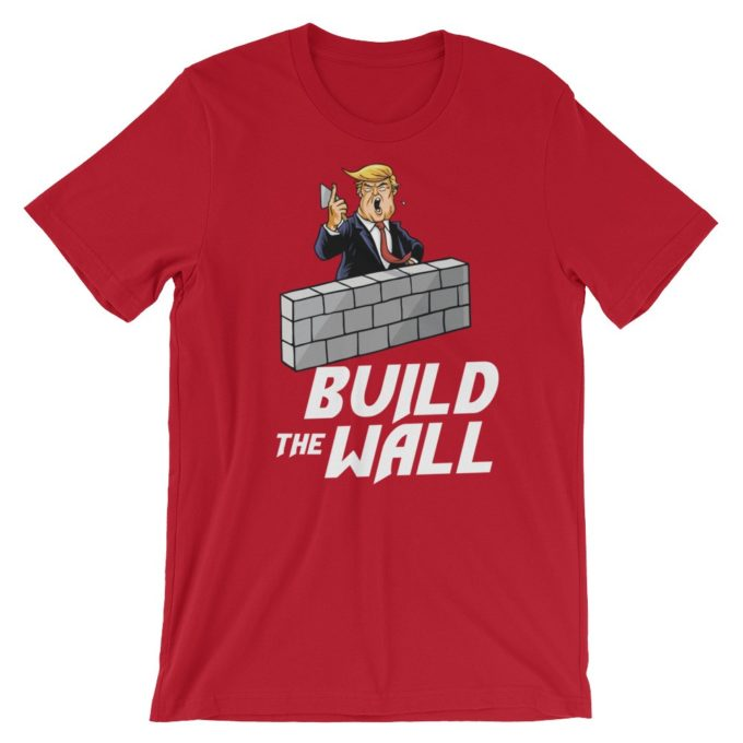 Build The Wall Pro Trump Red T-Shirt