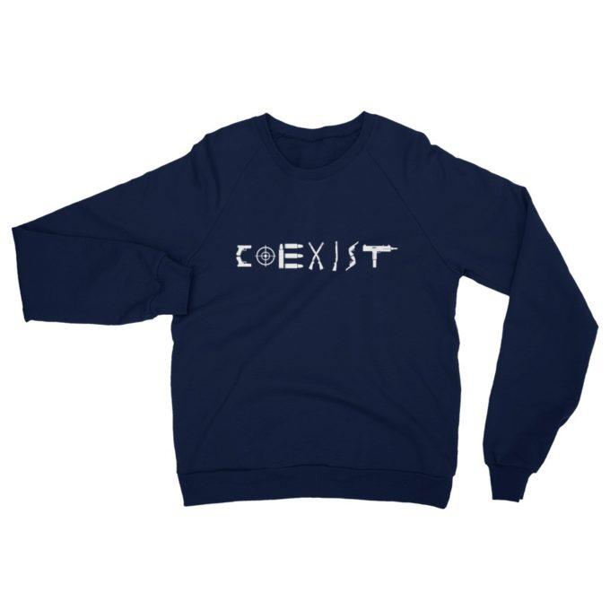 Coexist Pro Guns Navy Sweatshirt