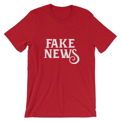 Fake News Red T-Shirt
