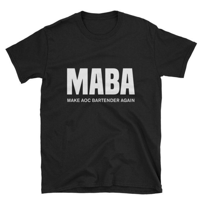 Make AOC Bartender Again Black T-Shirt