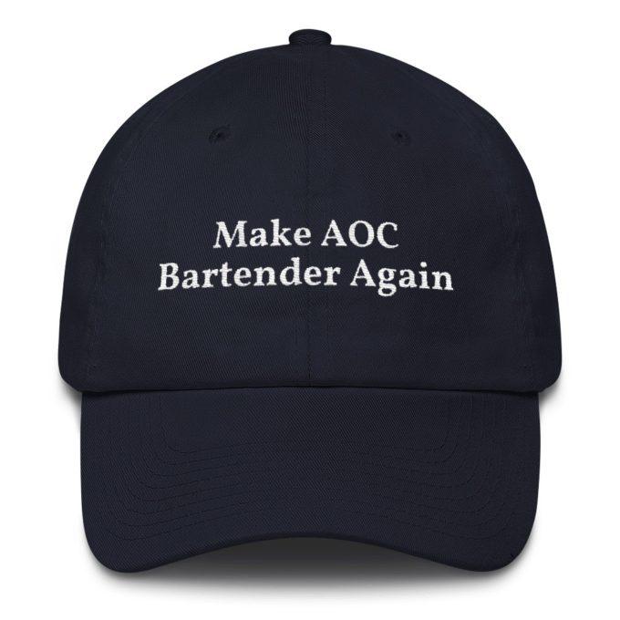 Make AOC Bartender Again Navy Hat