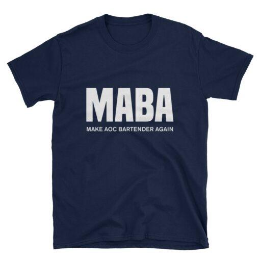 Make AOC Bartender Again Navy T-Shirt