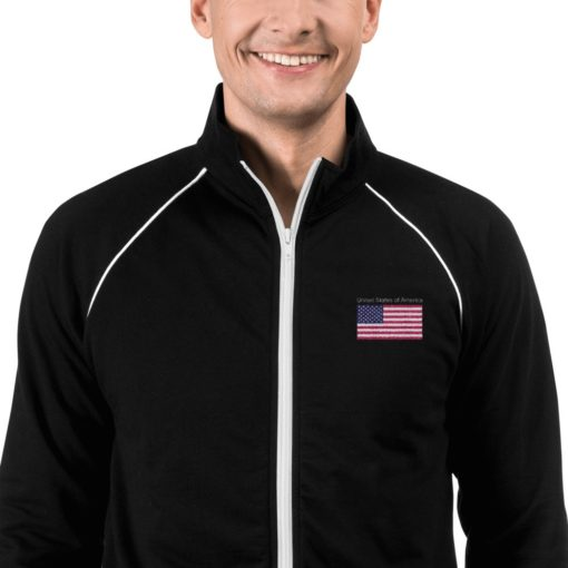 american flag Fleece Jacket