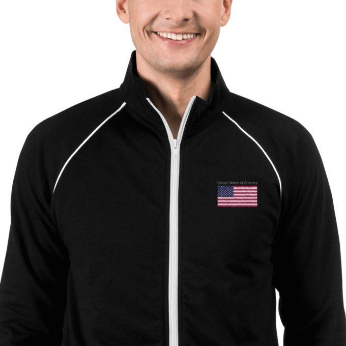 american flag Fleece Jacket
