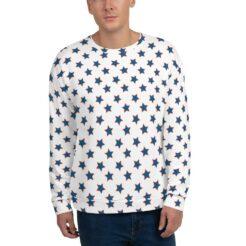 American Flag Stars Unisex White Sweatshirt