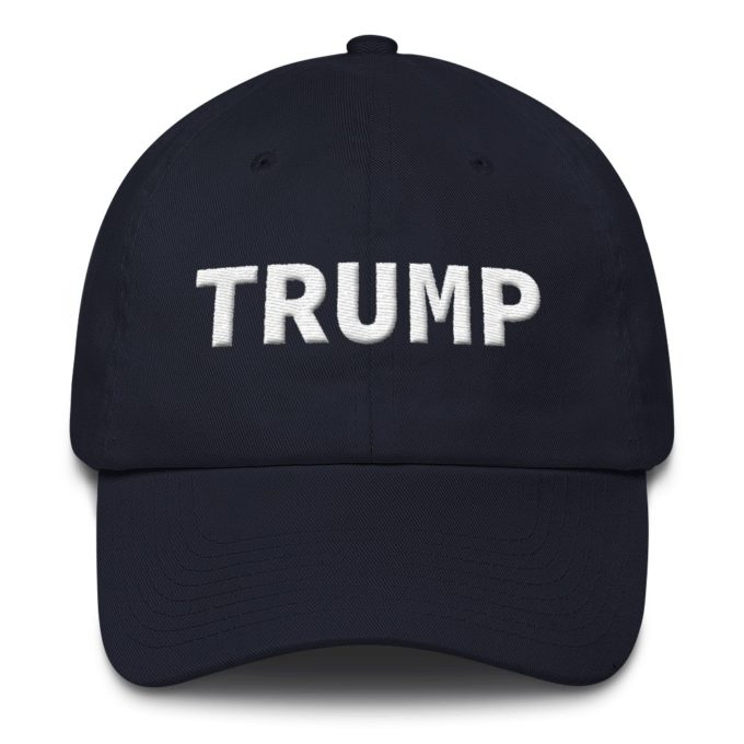 Trump Embroidered Navy Hat