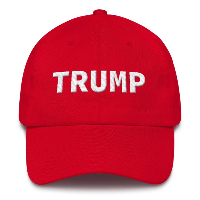Trump Embroidered Red Hat