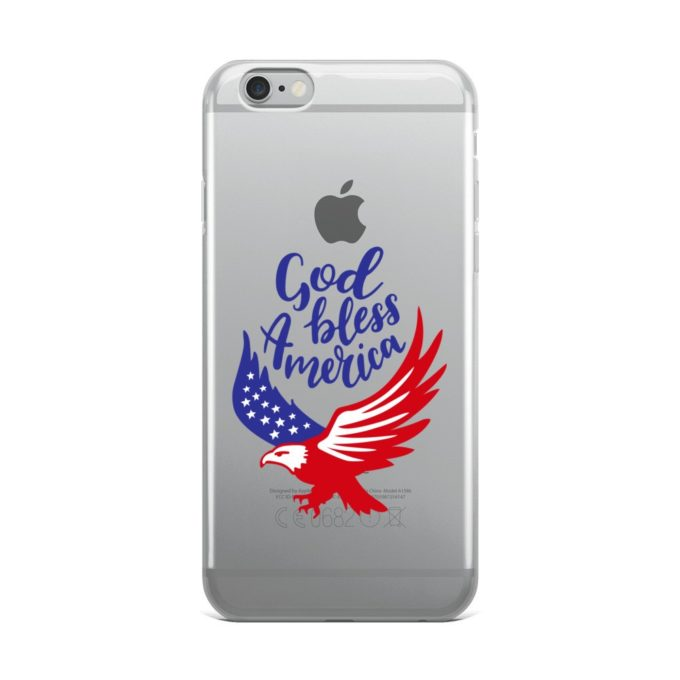God Bless America Transparent iPhone Case