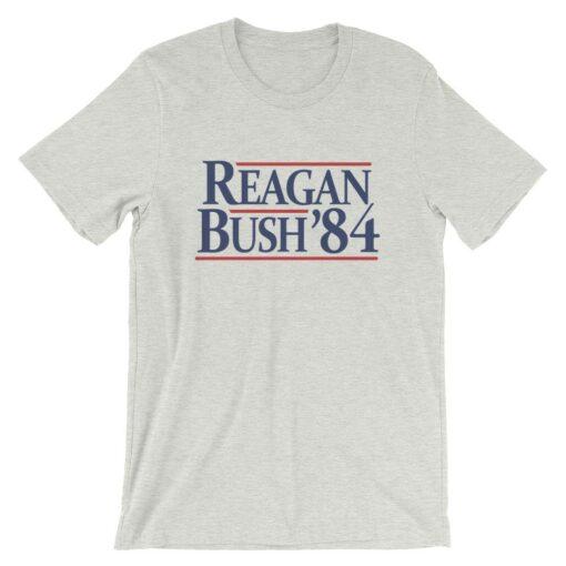 Reagan Bush '84 Vintage Grey Heather T-Shirt