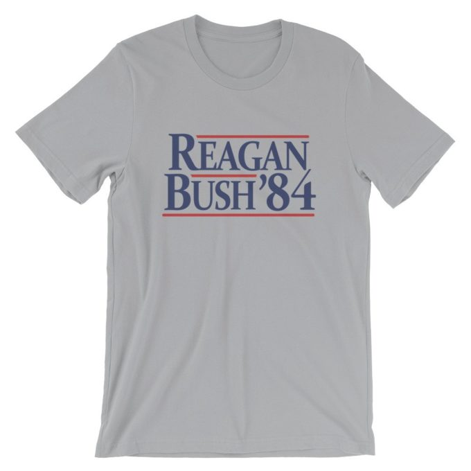 Reagan Bush '84 Vintage Silver T-Shirt