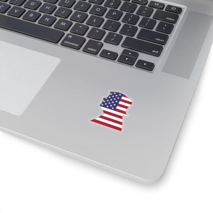 Trump 2x2 Transparent Die Cut Sticker on Laptop