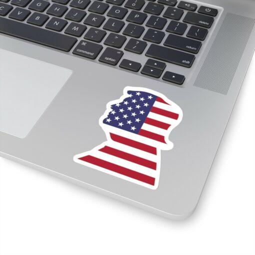 Trump 4x4 White Die Cut Sticker on Laptop
