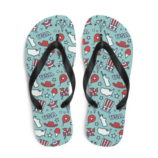 American Pattern Flip-Flops
