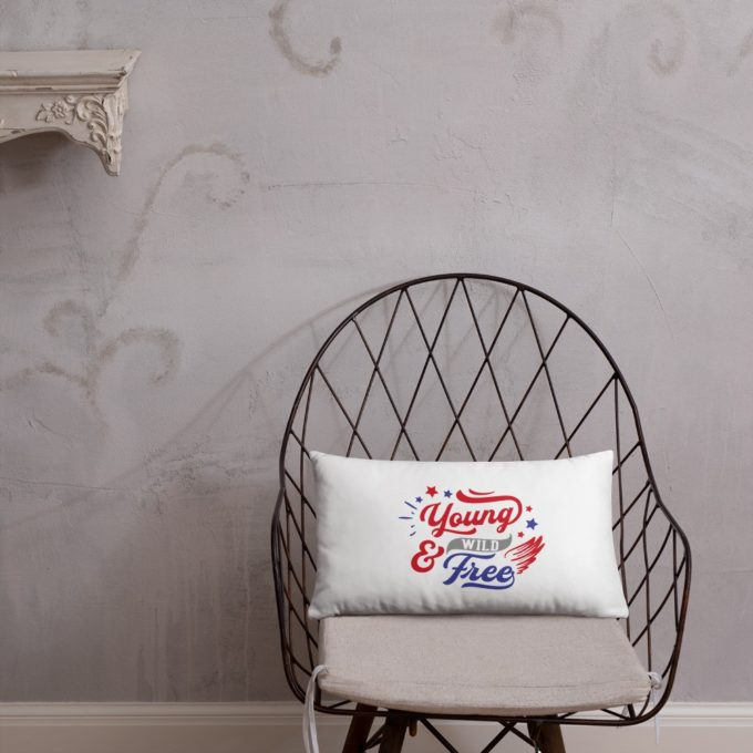 Land of The Free Because of The Brave Pillow