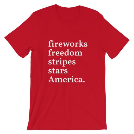 Fourth of July Fireworks Freedom Stripe T-Shirt