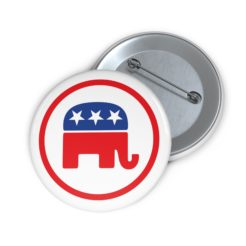 GOP Republican Party Pin Button 2 Front