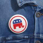 GOP Republican Party Pin Button Context 2