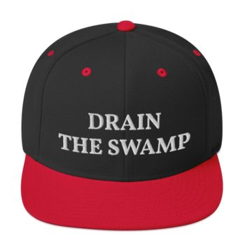 Join President Trump in his efforts to drain the swamp with this Drain The Swamp snapback hat. It's no easy job. Democrats are fighting back and we should support our president to achieve his plan.