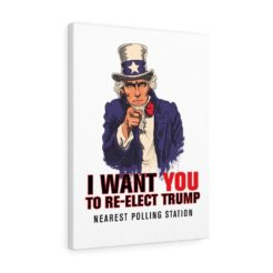 Uncle Sam Re-Elect Trump Canvas