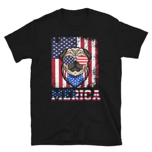 Patriotic American Dog T-Shirt