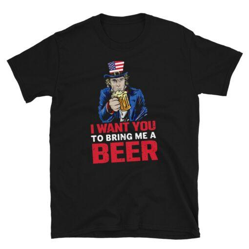 Uncle Sam Funny Beer T-Shirt